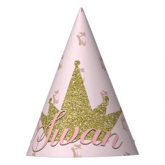 Chapeaux De Fètes Fête d'anniversaire de princesse Gold Glitter