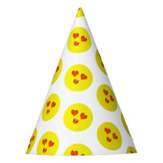 Chapeaux De Fètes Fête d'anniversaire d'Emoji d'amour