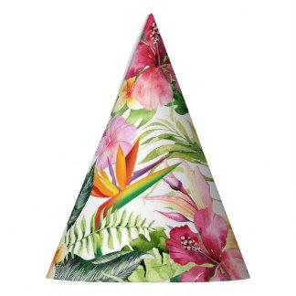 Chapeaux De Fètes Fête d'anniversaire sauvage de jungle de fleurs