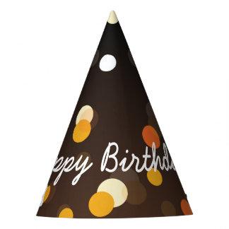 Chapeaux De Fètes Joyeux anniversaire élégant dans les étincelles