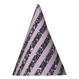 Chapeaux De Fètes Les parties scintillantes argentées pourpres lilas