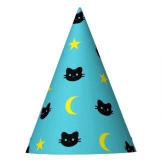Chapeaux De Fètes lune de chat de minou et casquette de partie