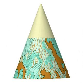 Chapeaux De Fètes Mélange abstrait unique 2F de motif