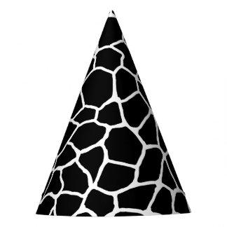 Chapeaux De Fètes Motif animal d'impression noir et blanc de girafe