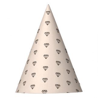 Chapeaux De Fètes Motif chic mignon de rose de diamant