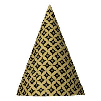 Chapeaux De Fètes Motif de pois élégant de cercle de noir et d'or