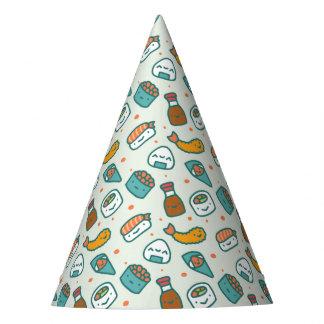 Chapeaux De Fètes Motif japonais mignon d'Onigiri de Tempura de