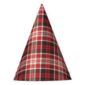 Chapeaux De Fètes Motif rouge et noir de plaid