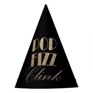 Chapeaux De Fètes Or de soirée du Nouveau an et tintement noir de