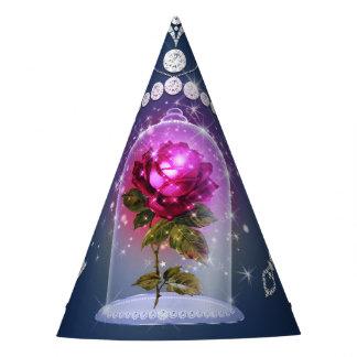 Chapeaux De Fètes Partie florale bleue magique enchantée de Bling de