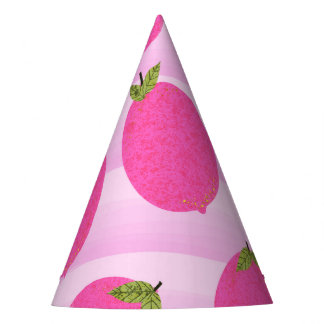 Chapeaux De Fètes Partie rose d'aquarelle de fruit d'été de limonade