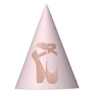 Chapeaux De Fètes Partie rose d'or de ballet de ballerine rose de