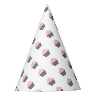 Chapeaux De Fètes Petit gâteau - bandes - noir et rose