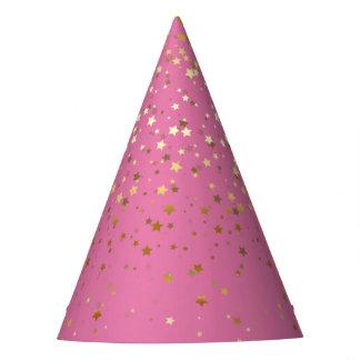Chapeaux De Fètes Petit rose d'or de Casquette-Fraise de partie