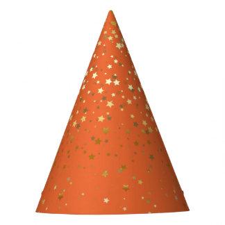 Chapeaux De Fètes Petite partie d'or d'étoiles Casquette-Orange