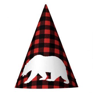 Chapeaux De Fètes Plaid rustique de bûcheron et ours blanc