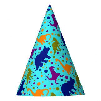 Chapeaux De Fètes Pois de dinosaure coloré pour des enfants de bébé