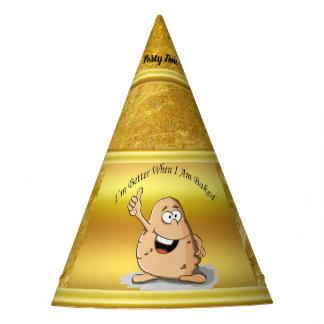 Chapeaux De Fètes pomme de terre de personnage de dessin animé avec