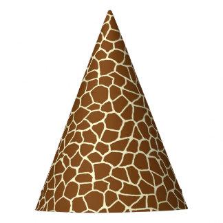 Chapeaux De Fètes Poster de animal sauvage de motif de girafe