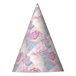 Chapeaux De Fètes Rose Casquette-Mauve et Aqua de partie de roses