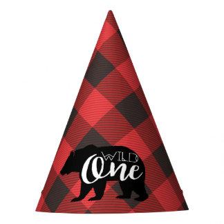 Chapeaux De Fètes Un anniversaire sauvage de flanelle de l'ours |