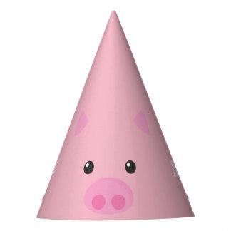 Chapeaux De Fètes Visage porcin rose