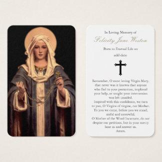Chapelet funèbre de la carte   Mary de prière