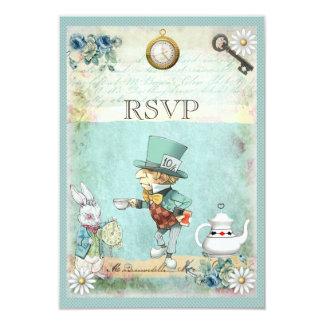 Chapelier fou Alice au pays des merveilles RSVP Carton D'invitation 8,89 Cm X 12,70 Cm