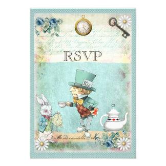 Chapelier fou Alice au pays des merveilles RSVP Cartons D'invitation Personnalisés