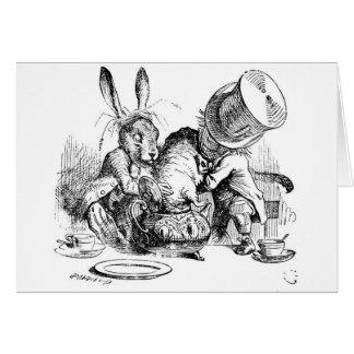 Chapelier, loir et lièvres fous de mars cartes de vœux