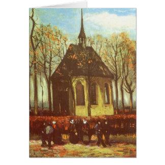 Chapelle chez Nuenen par Van Gogh, Pâques vintage Carte De Vœux
