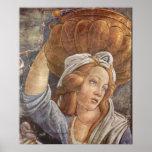 Chapelle de Botticelli-Sistine - la jeunesse de Mo Posters