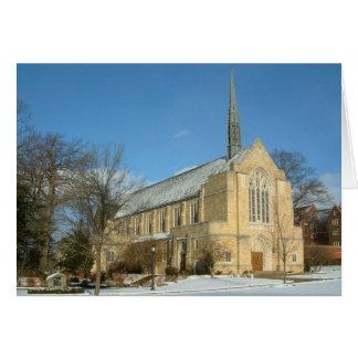 Chapelle de Harbison en hiver à l'université de Carte De Vœux