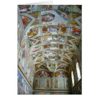 chapelle de sistine carte de vœux