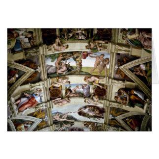 Chapelle de Sistine, Vatican, Rome, Italie Carte De Vœux