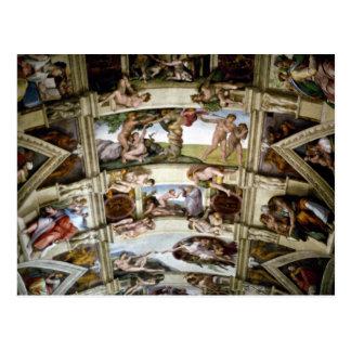 Chapelle de Sistine, Vatican, Rome, Italie Cartes Postales