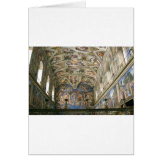 Chapelle de Vatican Sistine Carte De Vœux