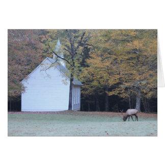 Chapelle et élans de Palmer Carte De Vœux