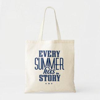 Chaque été l'a est conception de Histoire-Texte Sac En Toile Budget