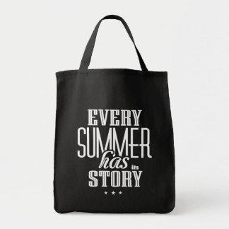 Chaque été l'a est conception de Histoire-Texte Sac En Toile Épicerie