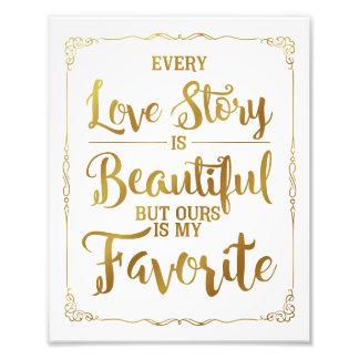 chaque histoire d'amour est beau signe de mariage, photos sur toile
