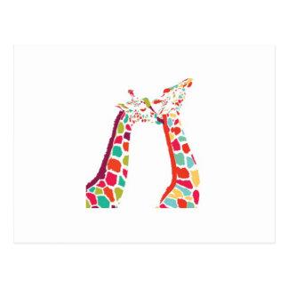 Chaque produit de girafe carte postale