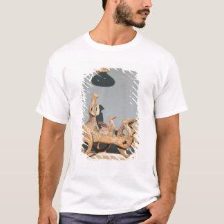 Char votif avec une divinité anthropomorphe t-shirt