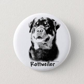 Charbon de bois de rottweiler - bouton badge