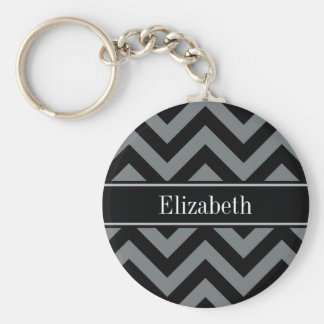 Charbon de bois, monogramme nommé noir noir porte-clés