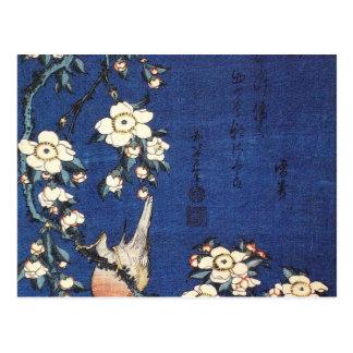 Chardonneret et cerisier, c.1834 par Katsushika H Cartes Postales