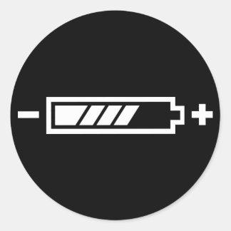 Chargé - électrique hybride solaire de batterie autocollants ronds