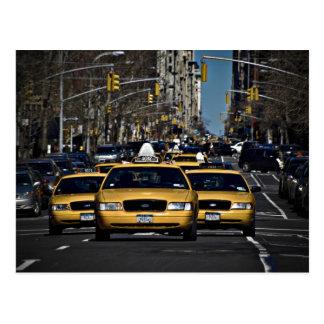 Charge jaune de cabine cartes postales