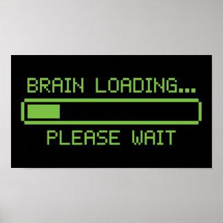 Chargement de cerveau… Attendez svp Poster
