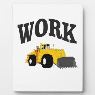 chargeur jaune de travail impression sur plaque